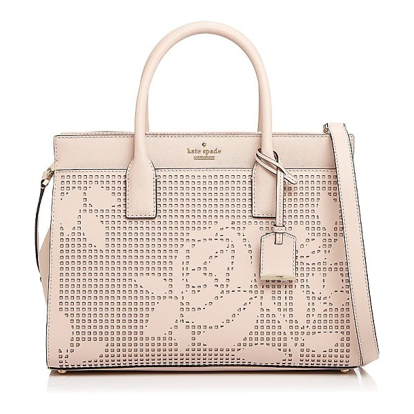 Kate Spade New York kate spade new york Cameron Street Candace Perforated Leather Satchel in dolce pink/gold - kate spade new york Cameron Street Candace Perforated...