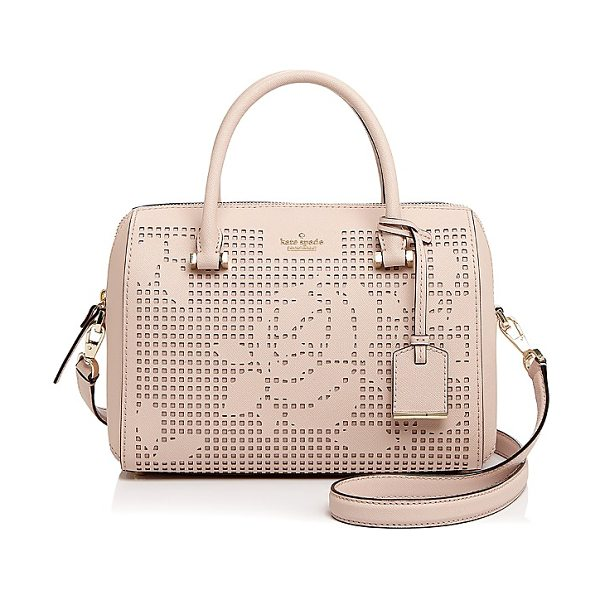 Kate Spade New York kate spade new york Cameron Street Perforated Lanes Large Leather Satchel in dolce pink/gold
