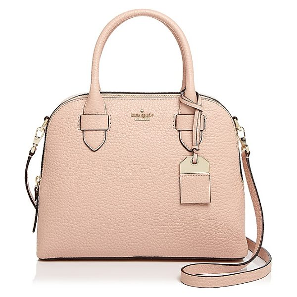 Kate Spade New York kate spade new york Carter Street Ashleigh Small Leather Satchel in barely there/gold - kate spade new york Carter Street Ashleigh Small Leather...