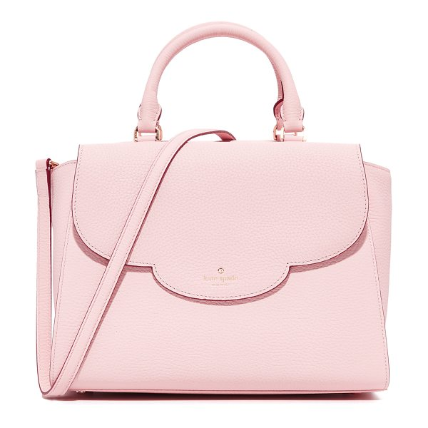 Kate Spade New York makayla satchel in pink granite - A pebbled leather Kate Spade New York satchel with a...
