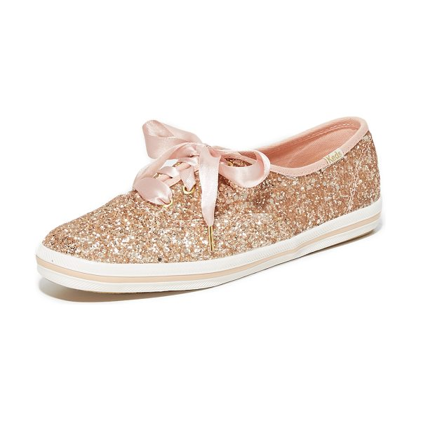Kate Spade New York keds for  glitter sneakers in rose gold glitter - A collaboration between Keds and Kate Spade New York,...