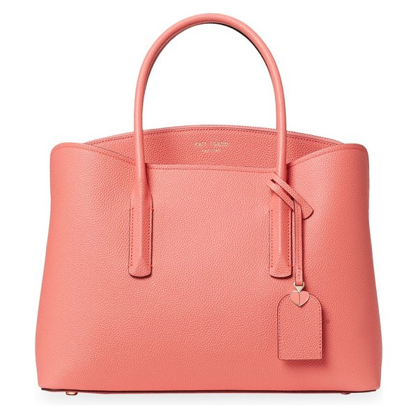 Kate Spade New York large margaux leather satchel in lychee