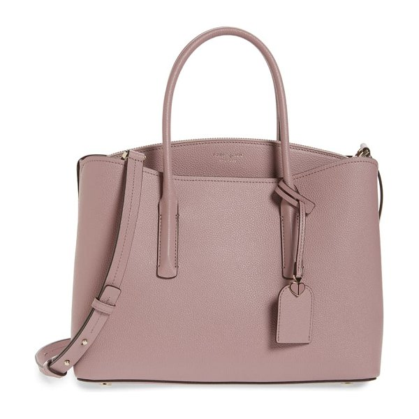 Kate Spade New York large margaux leather satchel in pink