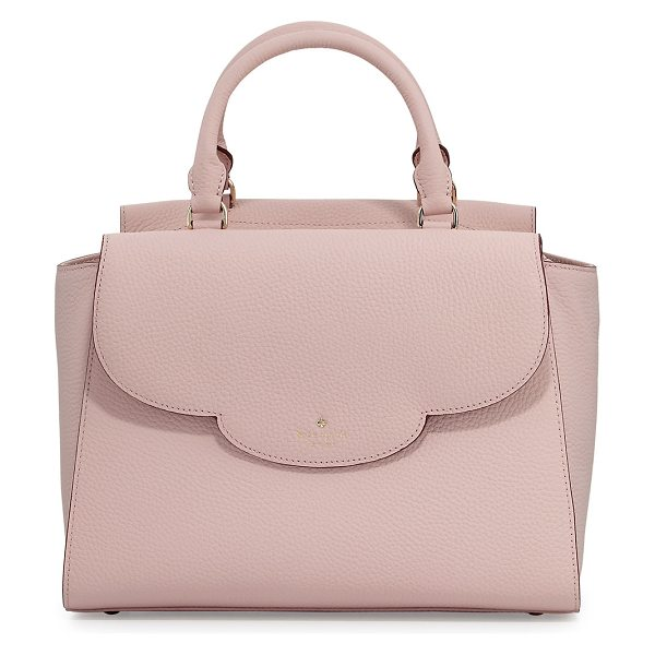 Kate Spade New York leewood place makayla leather tote bag in pink pattern - kate spade new york pebbled leather tote bag. Rolled top...