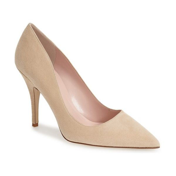Kate Spade New York 'licorice too' pump in light camel - A low-cut topline livens up a pretty pump finished with...