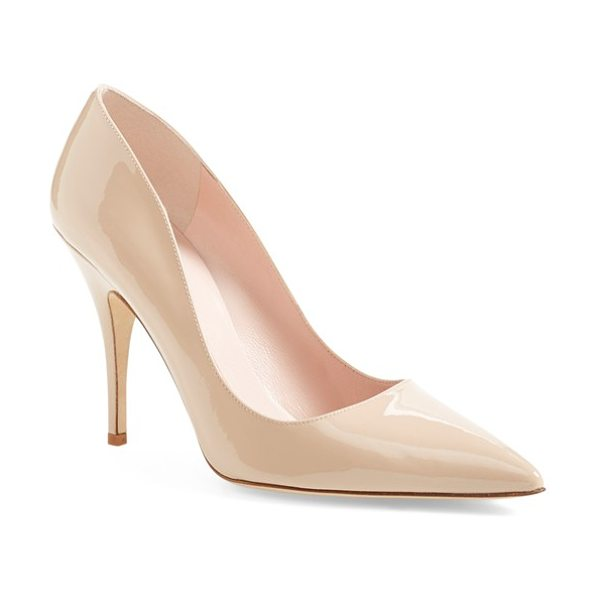 Kate Spade New York 'licorice too' pump in powder patent - A low-cut topline livens up a pretty pump finished with...