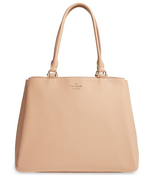 Kate Spade New York lombard street neve leather tote in sand - Minimal on the outside, maximum on the inside: with its...
