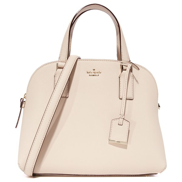 Kate Spade New York cameron street lottie satchel in tusk - A saffiano-leather Kate Spade New York bag in a...