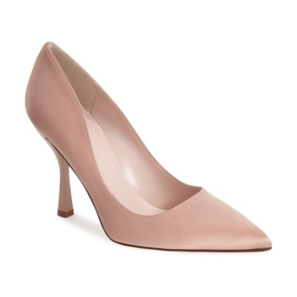 Kate Spade New York lucy pointy toe pump in pink - Feminine and feisty, this pointy-toe pump revels in...