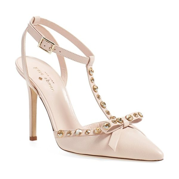 Kate Spade New York 'lydia' genuine calf hair pump in petal pink - Polished crystals illuminate the sophisticated profile...