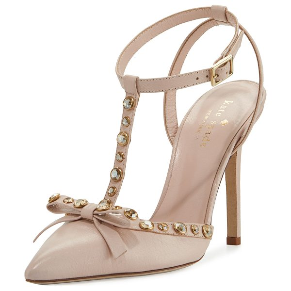 Kate Spade New York lydia studded leather pump in petal pink nappa - kate spade new york napa leather pump with...
