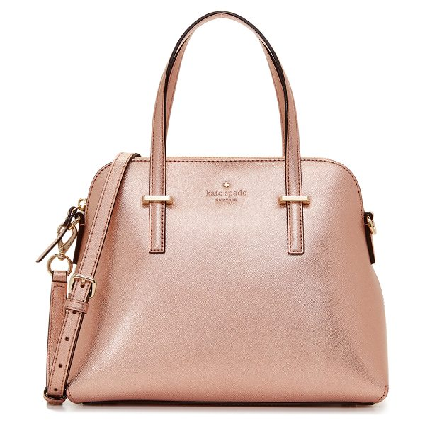 Kate Spade New York maise dome satchel in rose gold - A sophisticated Kate Spade New York handbag in saffiano...