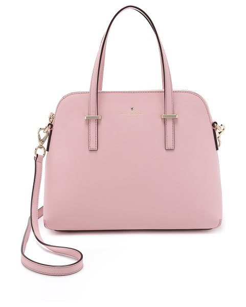 KATE SPADE NEW YORK Maise dome satchel - A sophisticated Kate Spade New York handbag in saffiano...