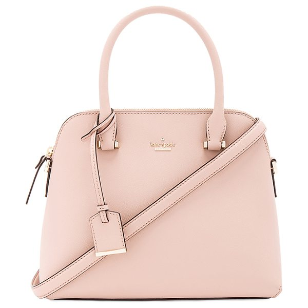 KATE SPADE NEW YORK Maise Satchel - Leather exterior with poly fabric lining. Zip top...