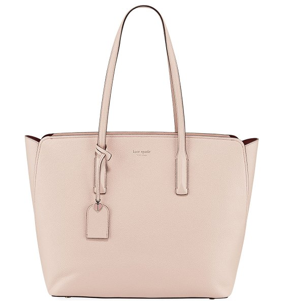 Kate Spade New York margaux large leather tote in light pink