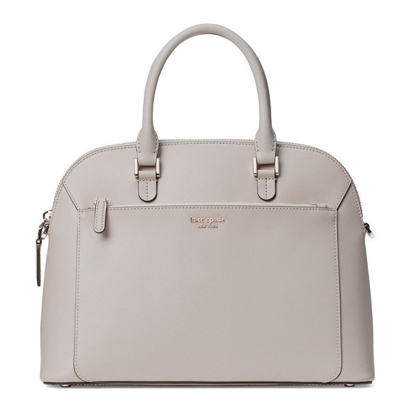 Kate Spade New York medium louise dome leather satchel in true taupe