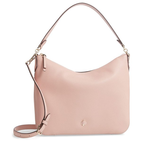 Kate Spade New York medium polly leather shoulder bag in pink