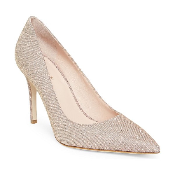 Kate Spade New York Metallic Pointed-Toe Stiletto Pumps in pink