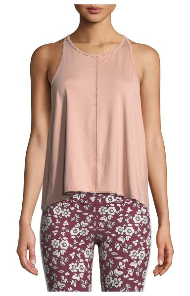 Kate Spade New York micro-mesh draped active tank in light pink - kate spade new york tank with mesh back panel. Scoop...