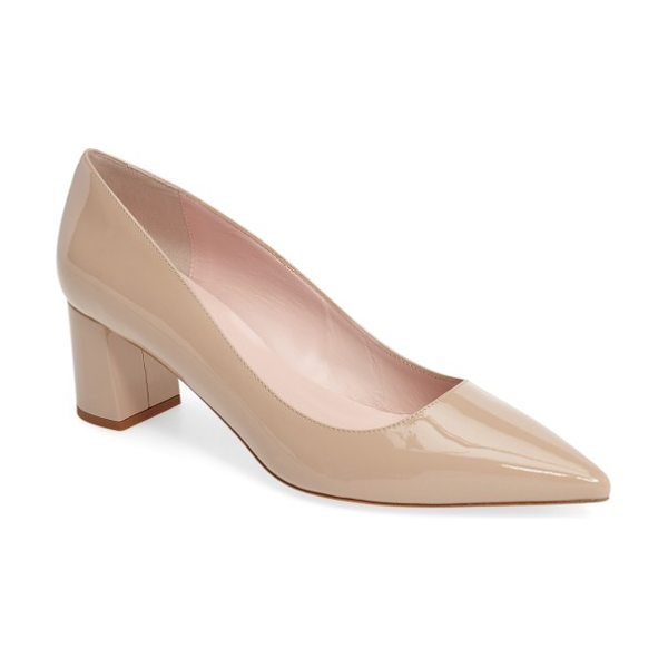 Kate Spade New York milan pump in powder patent - A wrapped block heel elevates a sophisticated Italian...