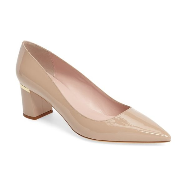 KATE SPADE NEW YORK milan pump - A wrapped block heel elevates a sophisticated Italian...