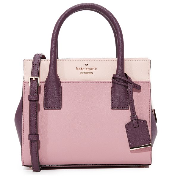 Kate Spade New York cameron street mini candace satchel in dusty peony multi - A colorblock leather Kate Spade New York bag in a...