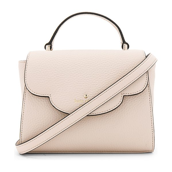 Kate Spade New York Mini Makayla Bag in cream - Leather exterior with poly fabric lining. Flap top with...