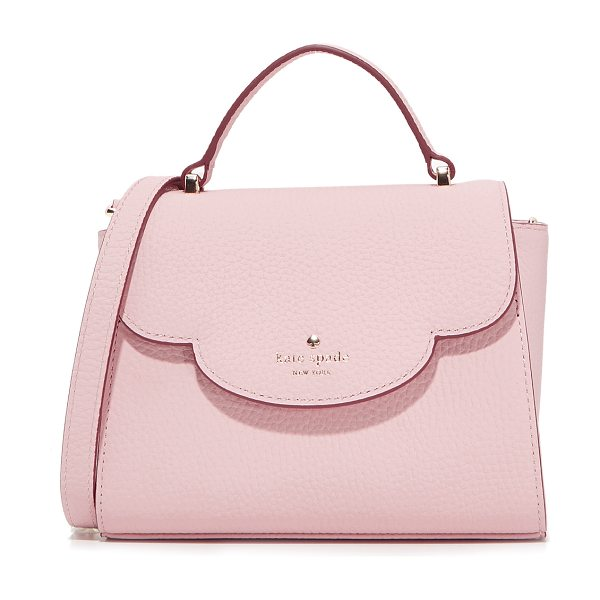 Kate Spade New York mini makayla top handle satchel in pink granite - A pebbled leather Kate Spade New York satchel with a...