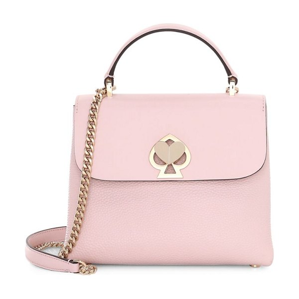 Kate Spade New York mini romy twistlock leather satchel in pink