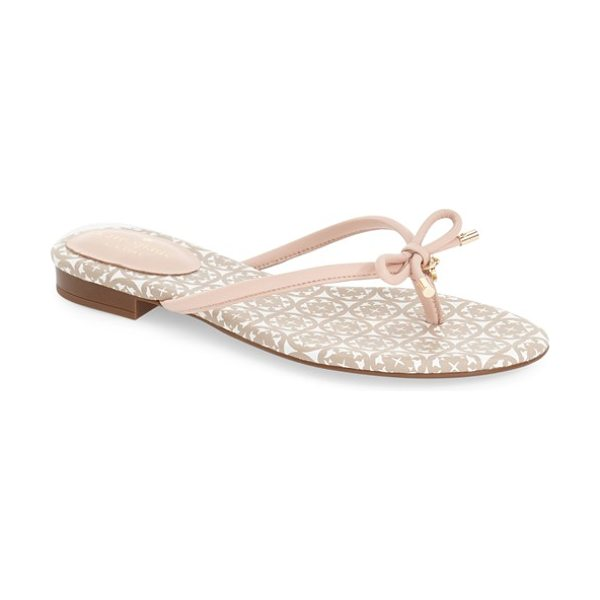 Kate Spade New York mistic sandal in pale pink nappa - Gleaming goldtone hardware accents the slim, signature...