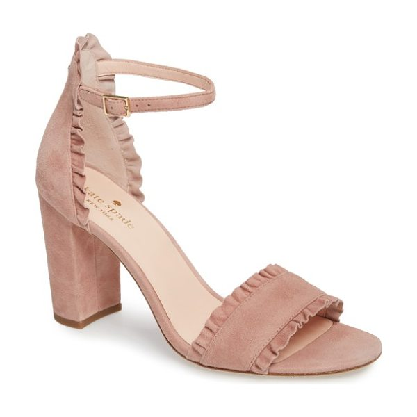 Kate Spade New York odele ruffle sandal in dusty blush