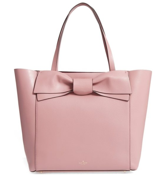 Kate Spade New York olive drive in dusty peony - A signature kate spade bow extends the uptown polish of...