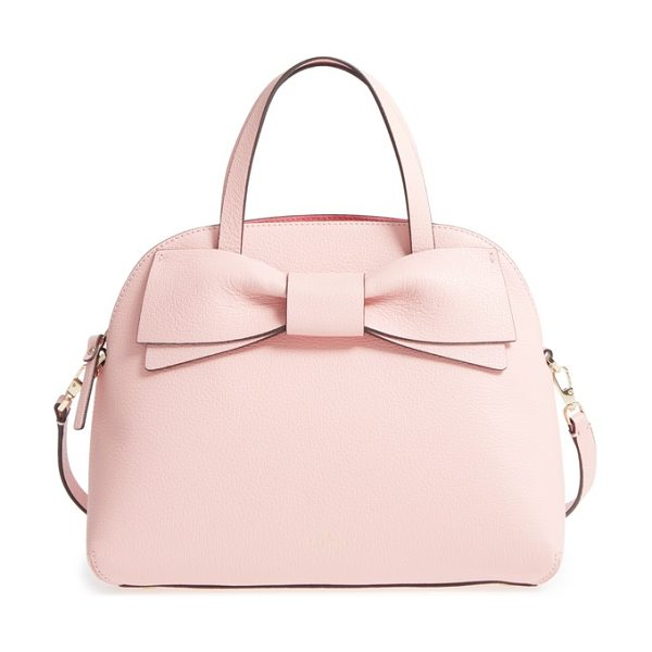 KATE SPADE NEW YORK olive drive lottie leather satchel - A charming bow adds a pretty touch to a domed leather...