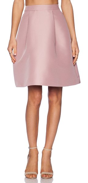 Kate Spade New York Pleated a line skirt in blush - Shell: 100% polyLining: 95% poly 5% spandex. Dry clean...