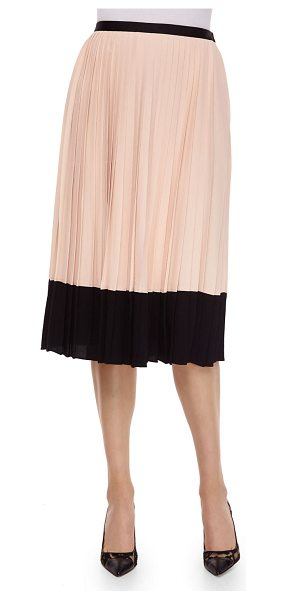 Kate Spade New York pleated midi two-tone skirt in shell - kate spade new york two-tone georgette skirt. Approx....