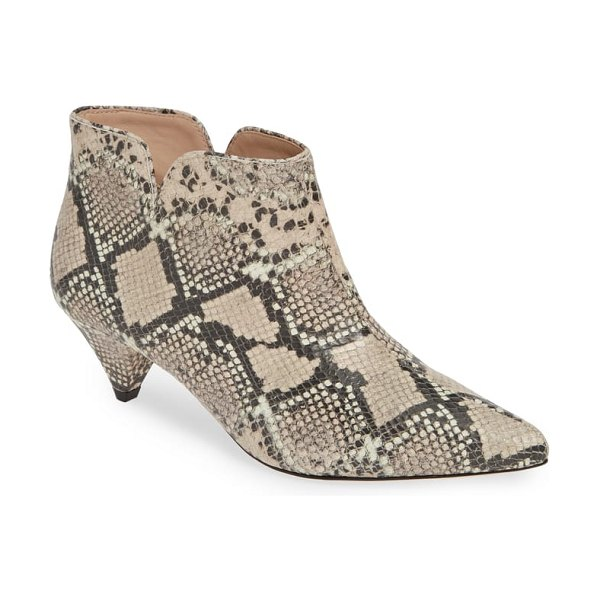 Kate Spade New York raelyn bootie in pink - Feel especially sharp in this retro-inspired bootie made...