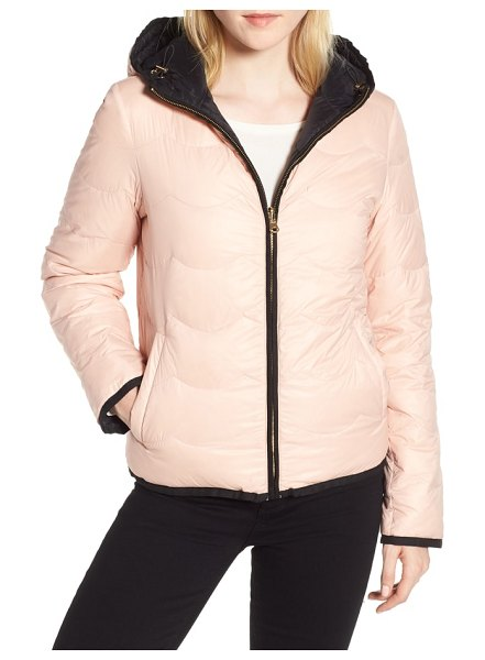Kate Spade New York reversible quilted down jacket in black/ cameo pink - If you have to face the cold and wet, you should at...