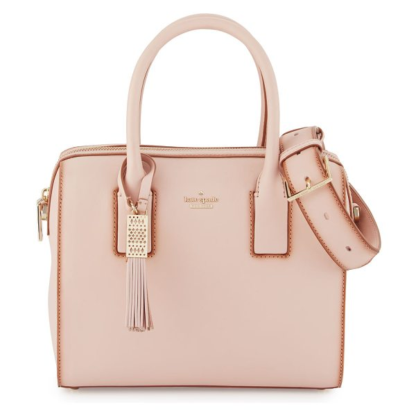 Kate Spade New York ridley street leather satchel bag in neutral pattern - kate spade new york satchel bag in smooth, double...