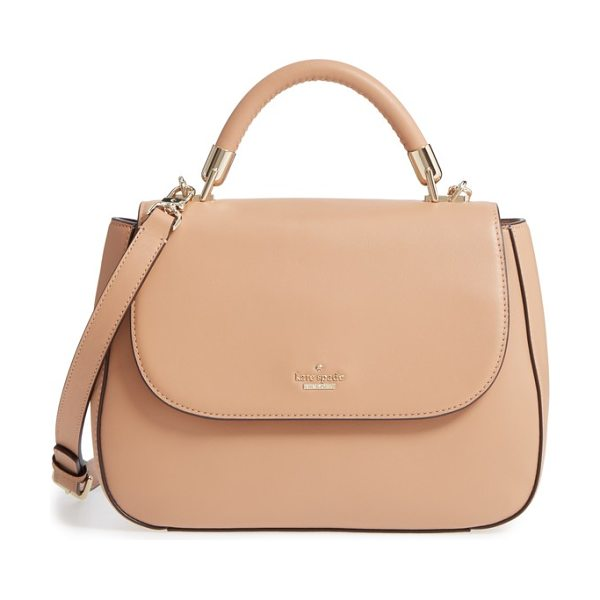 Kate Spade New York robson lane in biscotto - An optional, adjustable strap and top handle make it a...