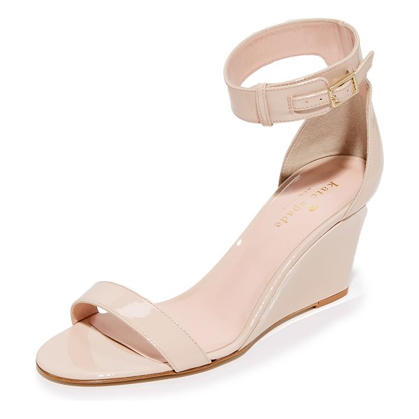 Kate Spade New York ronia wedges in powder - Kate Spade New York sandals, composed of sleek patent...