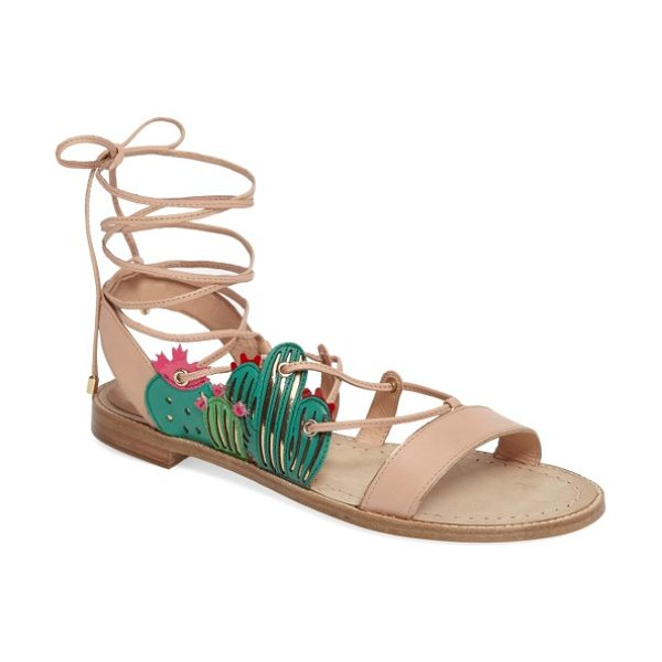 KATE SPADE NEW YORK salina sandal in natural - Keep your look sharp by adding succulent...