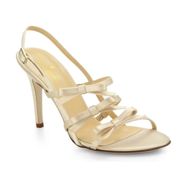 Kate Spade New York Sally satin slingback sandals in champagne