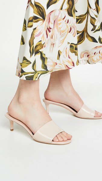 Kate Spade New York savvi kitten heel slide sandals in tusk
