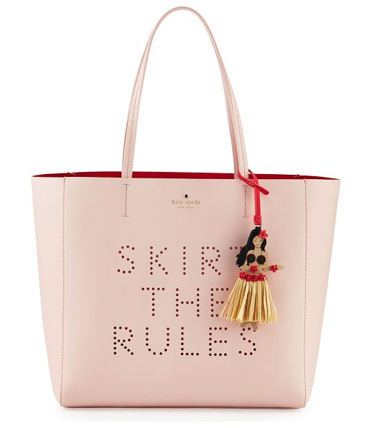 "Kate Spade New York Skirt the rules hallie tote bag in urchin pink - kate spade new york ""skirt the rules hallie"" leather..."