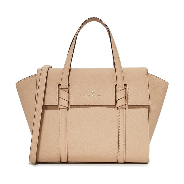 KATE SPADE NEW YORK daniels drive small abigail satchel in hazel - A pebbled-leather Kate Spade New York satchel detailed...