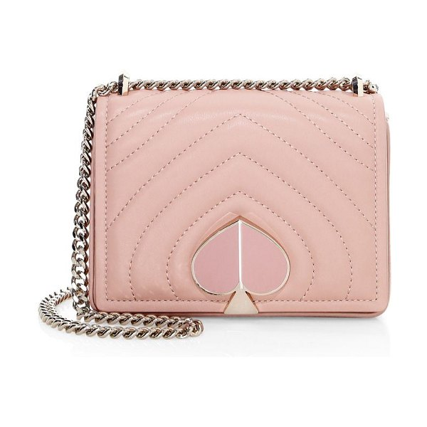 Kate Spade New York small amelia leather flap shoulder bag in flapper pink
