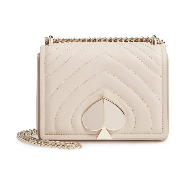 Kate Spade New York small amelia leather shoulder bag in beige
