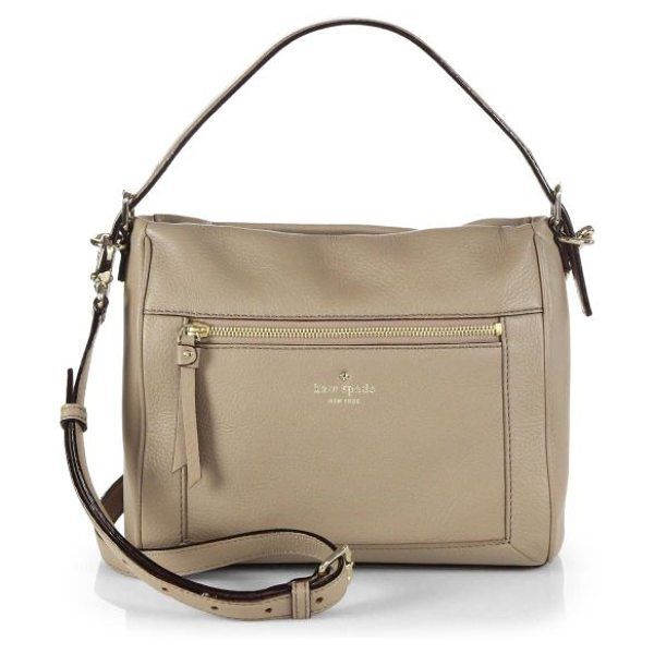 Kate Spade New York Small harris shoulder bag in warmputty - This relaxed silhouette is crafted from supple leather...