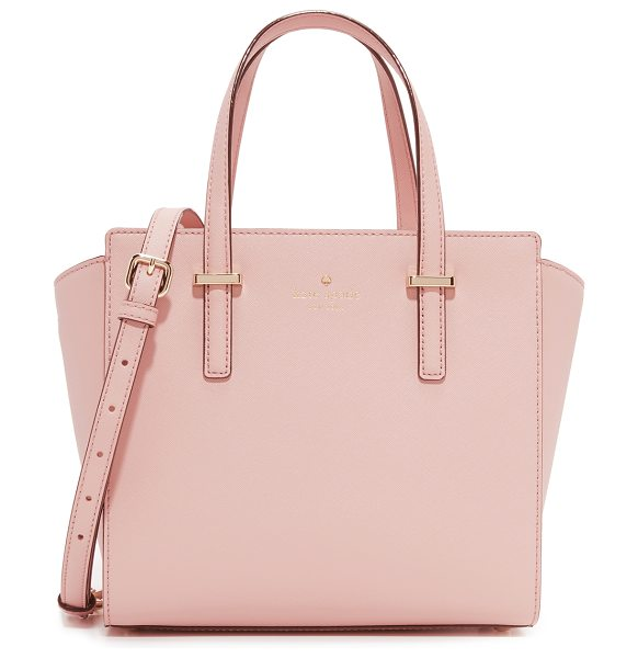 Kate Spade New York Small hayden bag in pink bonnet - A scaled down Kate Spade New York satchel in saffiano...