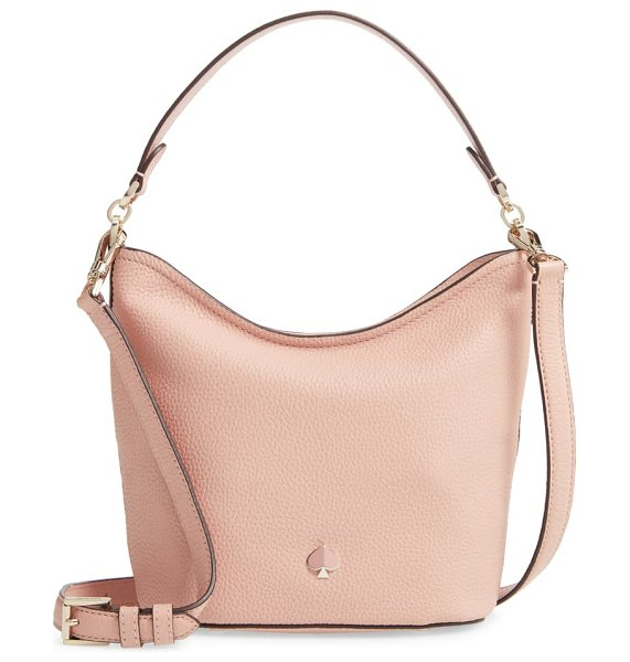 Kate Spade New York small polly leather hobo bag in pink